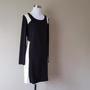 Dress Size 10 Color Blocked Night Out Cocktail